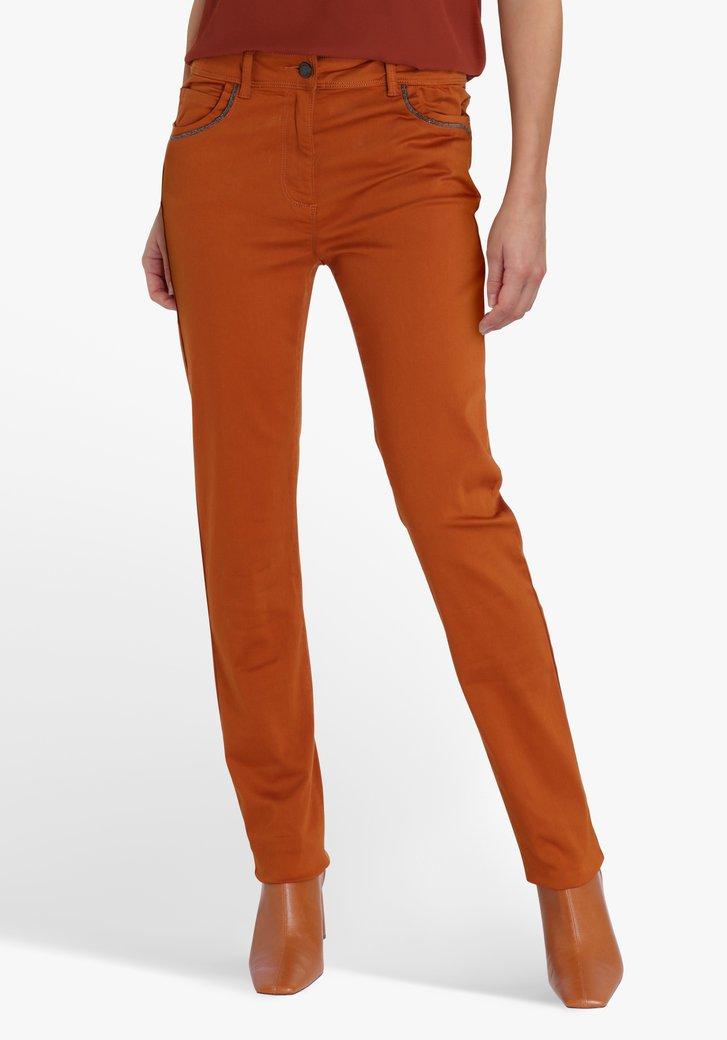 Pantalon marron - straight fit