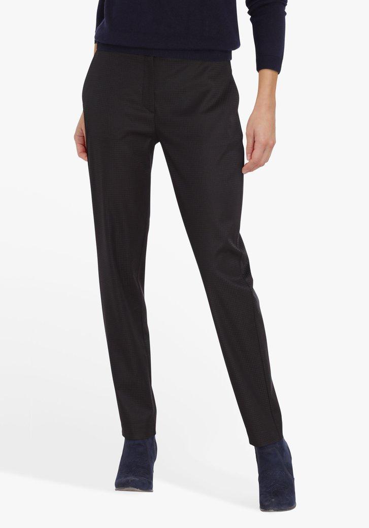 Pantalon noir à imprimé noir - slim fit