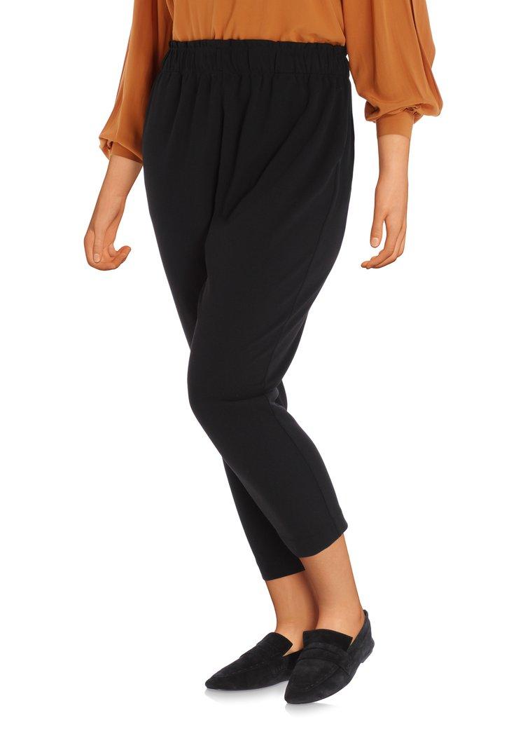 Pantalon noir à taille élastique