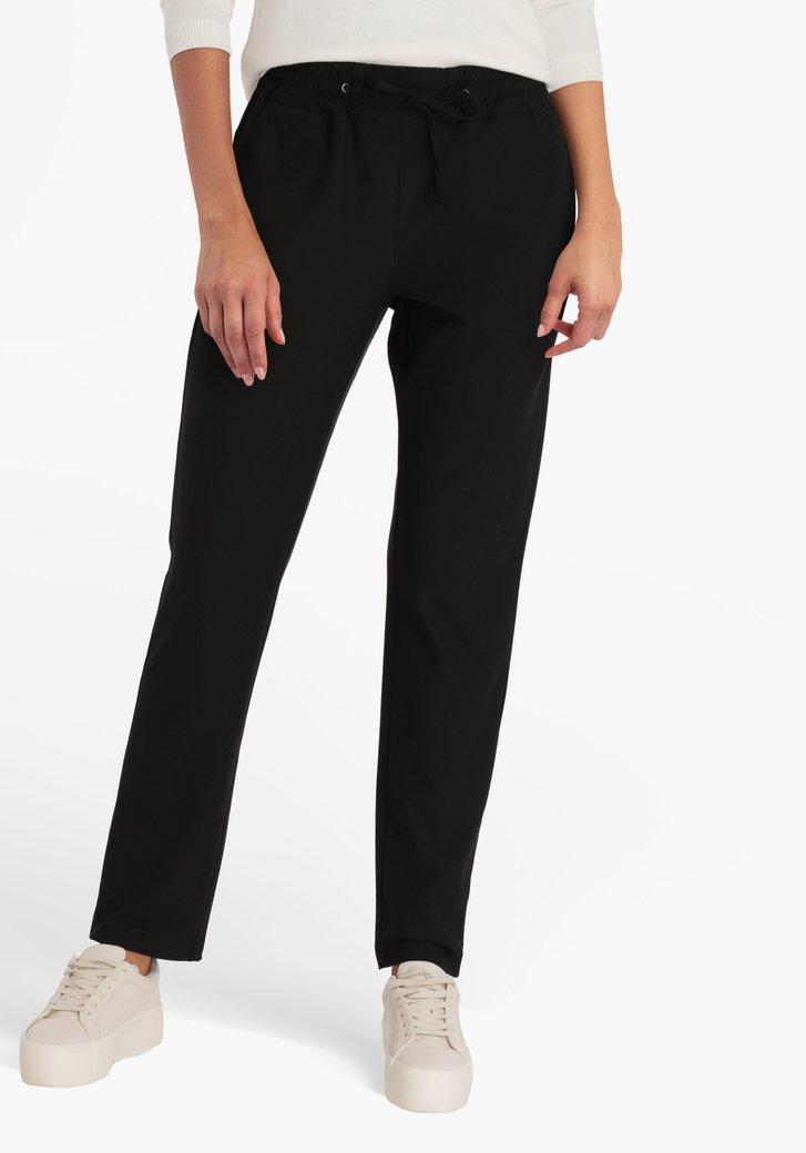 Pantalon noir à taille élastiquée - slim fit