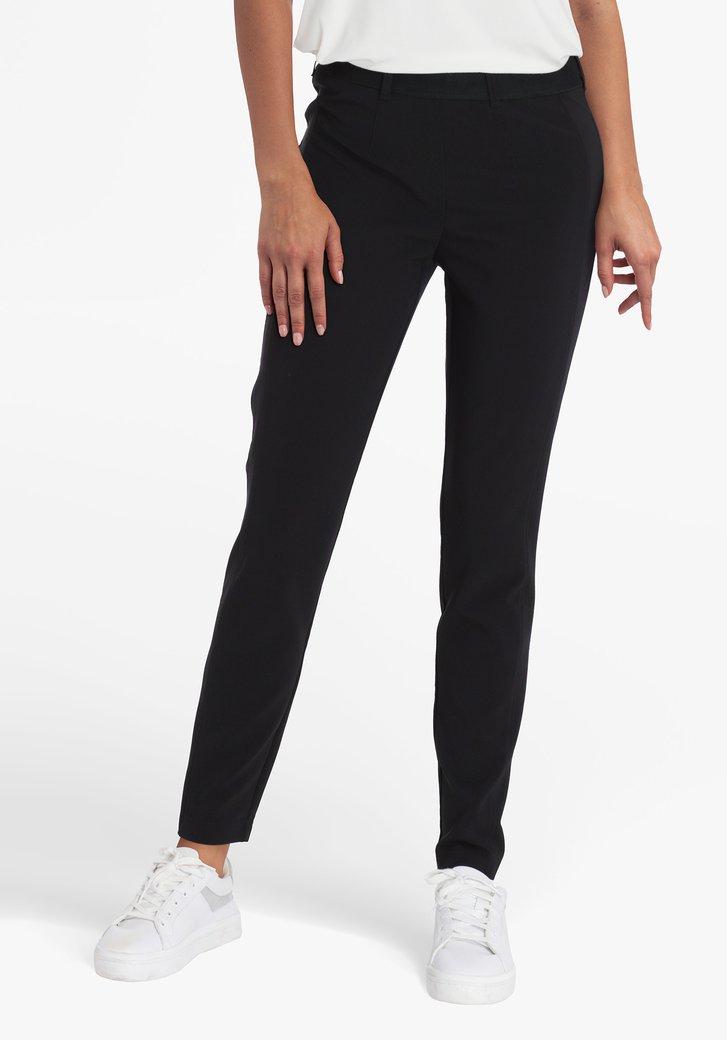 Pantalon noir avec taille élastique - slim fit