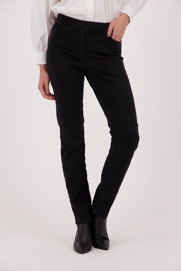 Pantalon noir en stretch Emanuelle