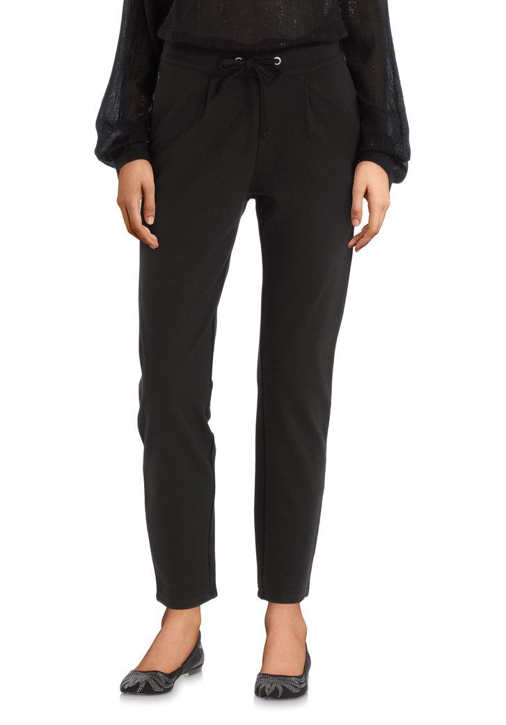 Pantalon noir en tissu stretch