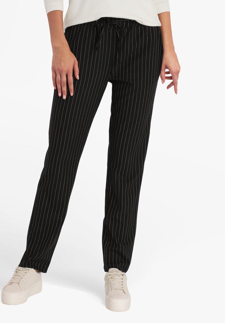Pantalon noir rayé - slim fit