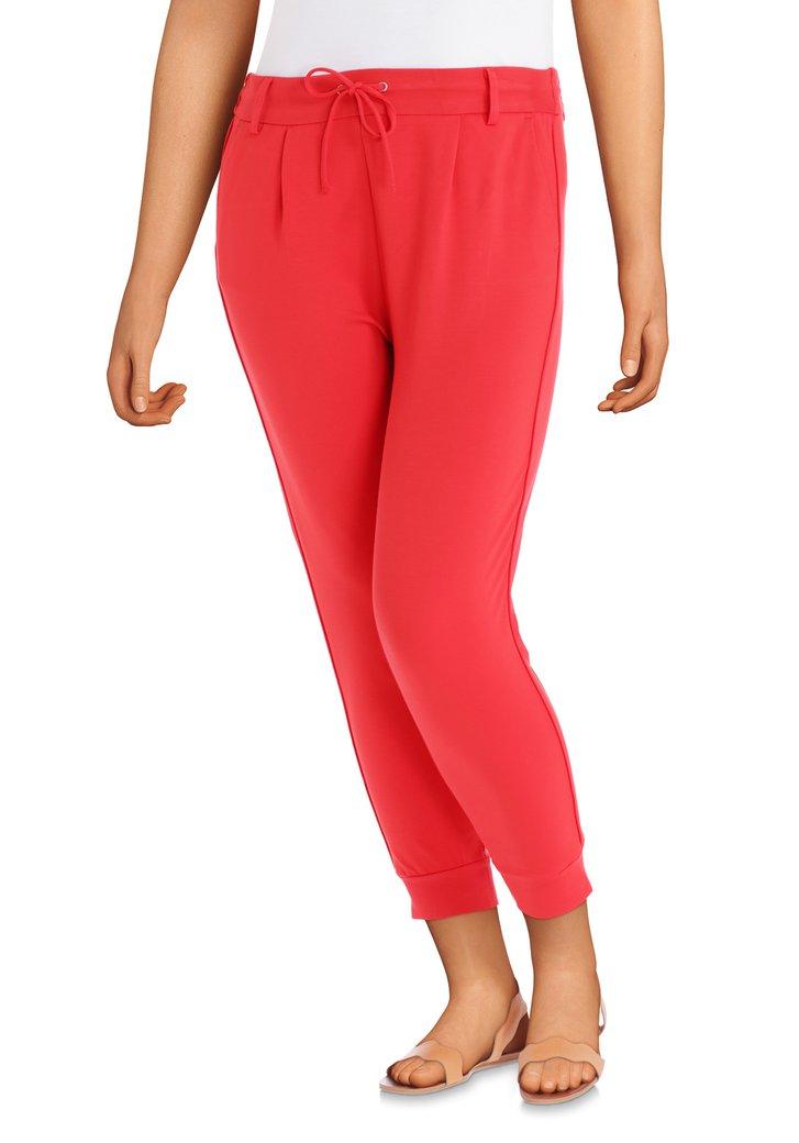 Pantalon rouge à taille élastique