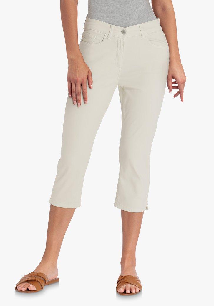 Pantalon trois quarts beige