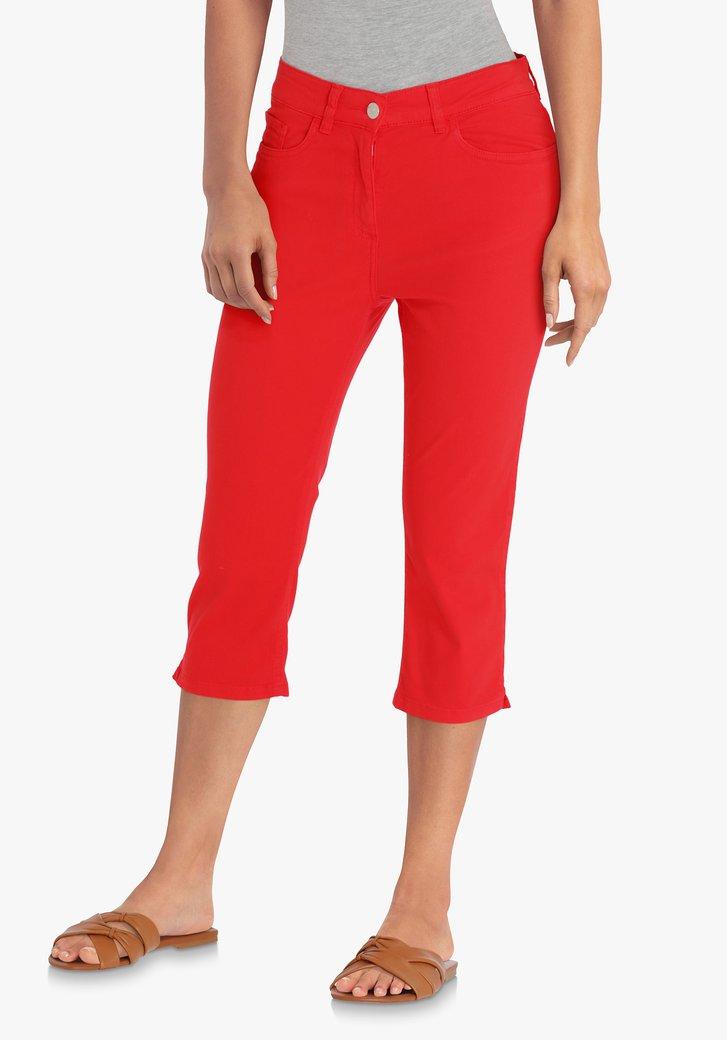 Pantalon trois quarts rouge