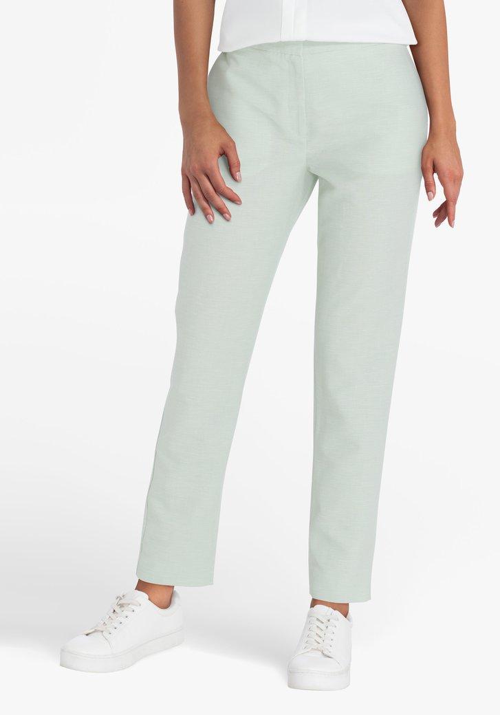 Pantalon vert à petits carreaux