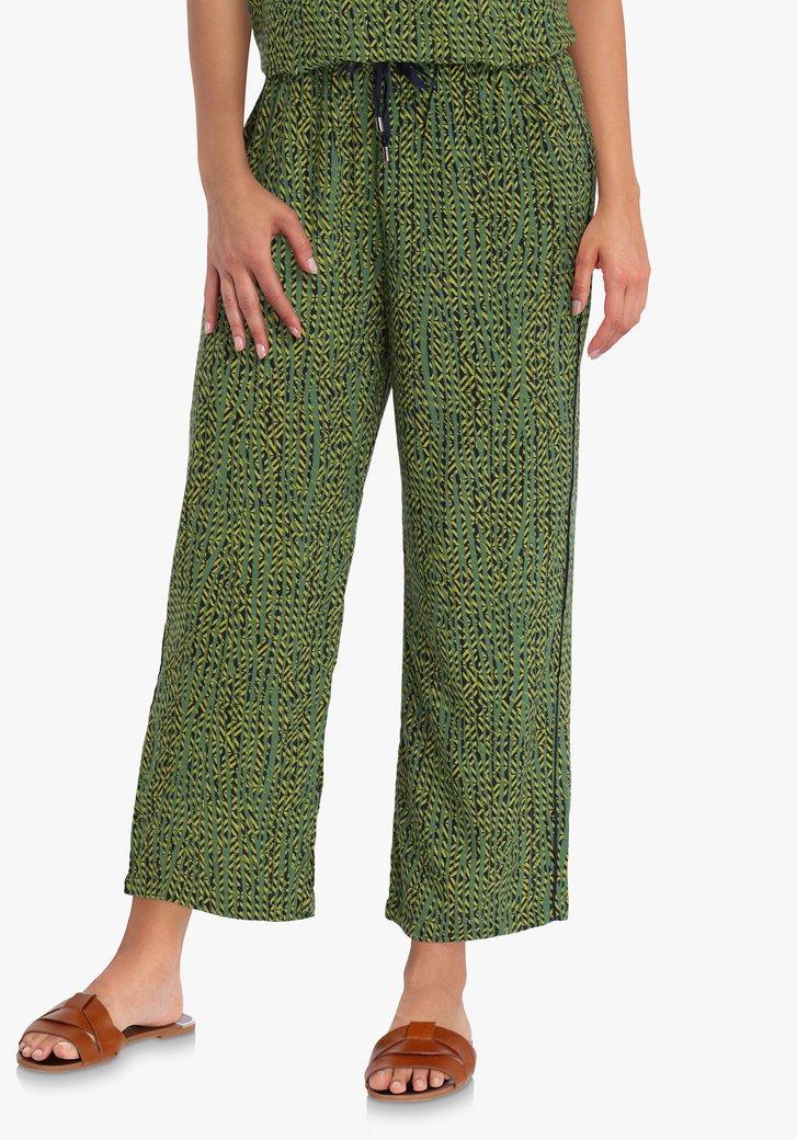 Pantalon vert en viscose - straight fit