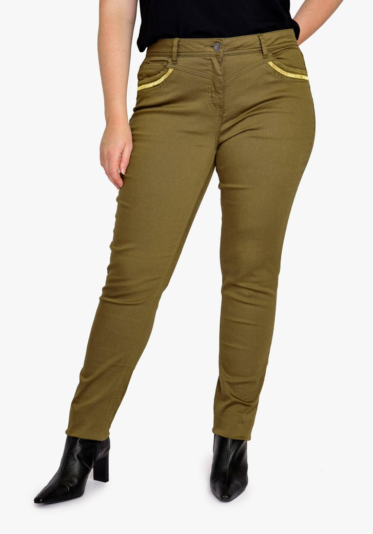 Pantalon vert olive - slim fit