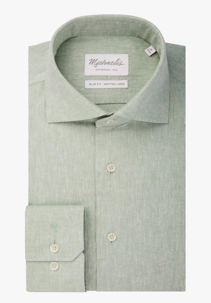 Pastelgroen hemd - slim fit