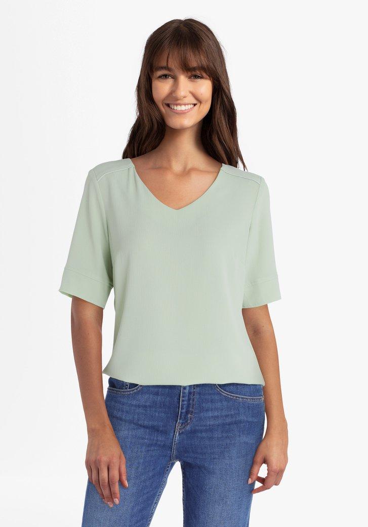Pastelgroene blouse