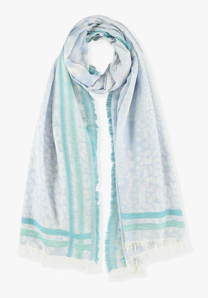Pastelkleurig sjaaltje met panterprint