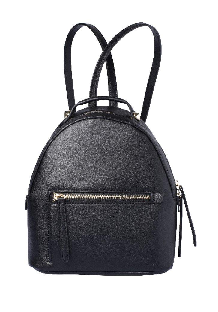 Petit sac à dos noir en aspect cuir