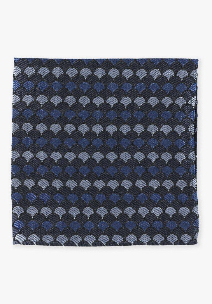 Pochette bleu marine avec des coquillages