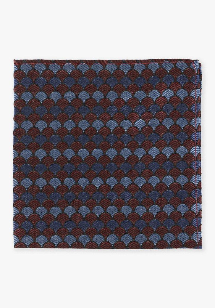 Pochette en soie bordeaux avec des coquillages