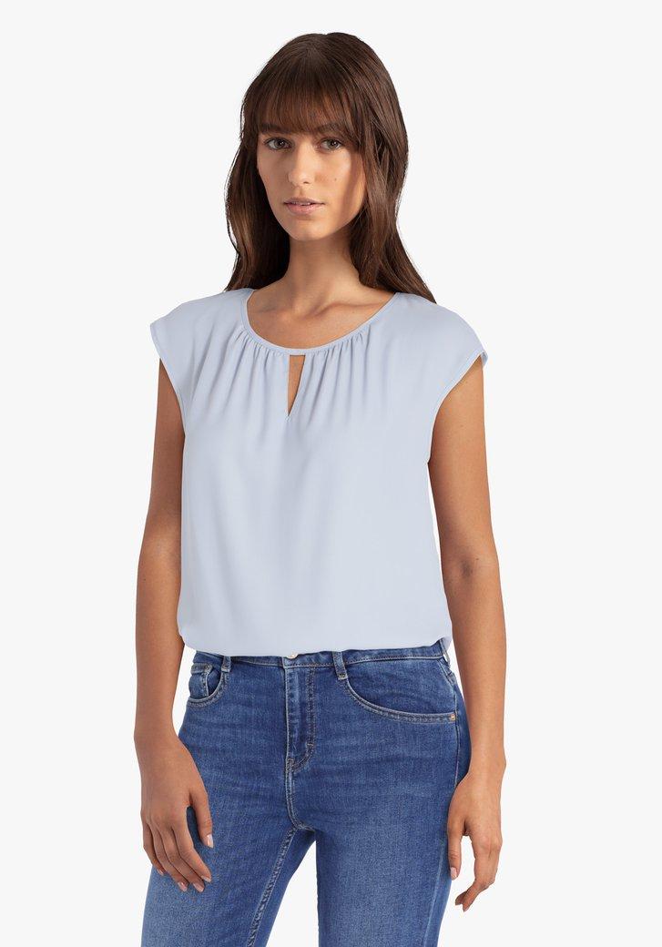 Poederblauwe blouse