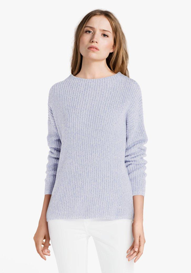 Poederblauwe gebreide trui