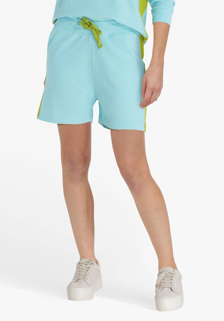 Poederblauwe short met elastische tailleband