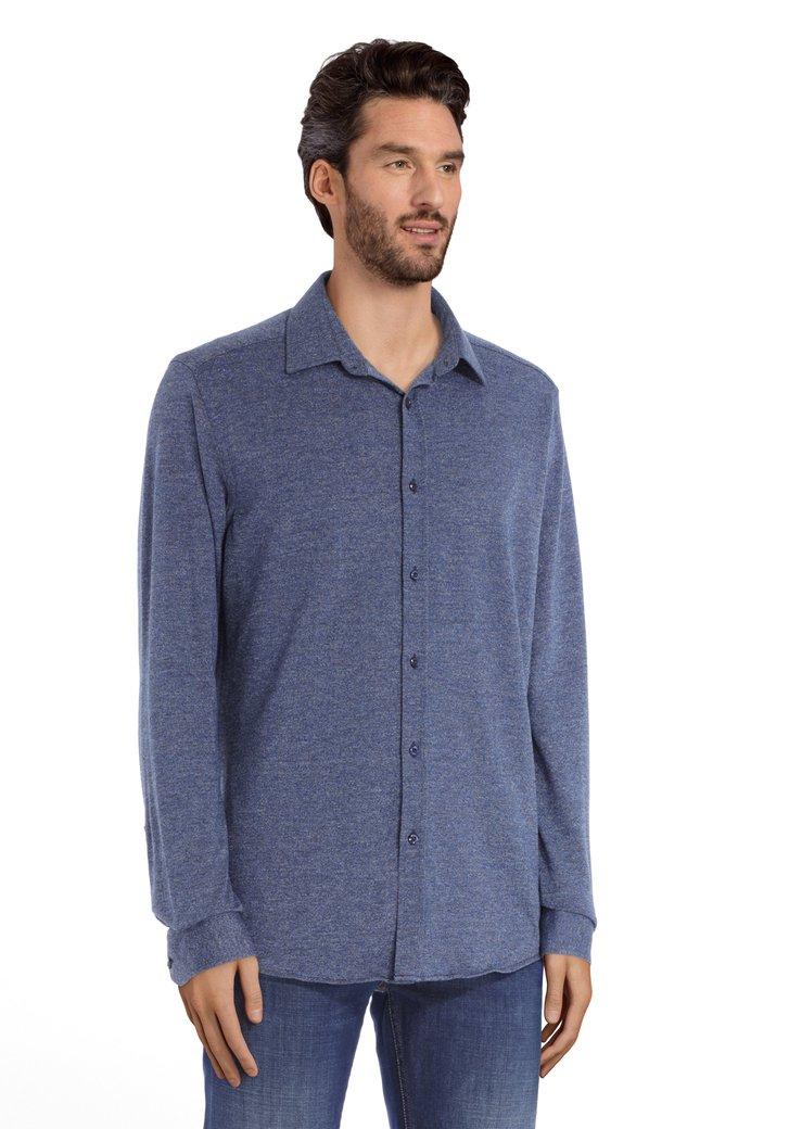 Polo bleu marine moucheté – tailored fit