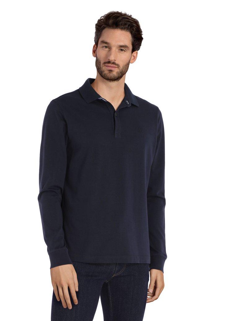 Polo en coton bleu foncé