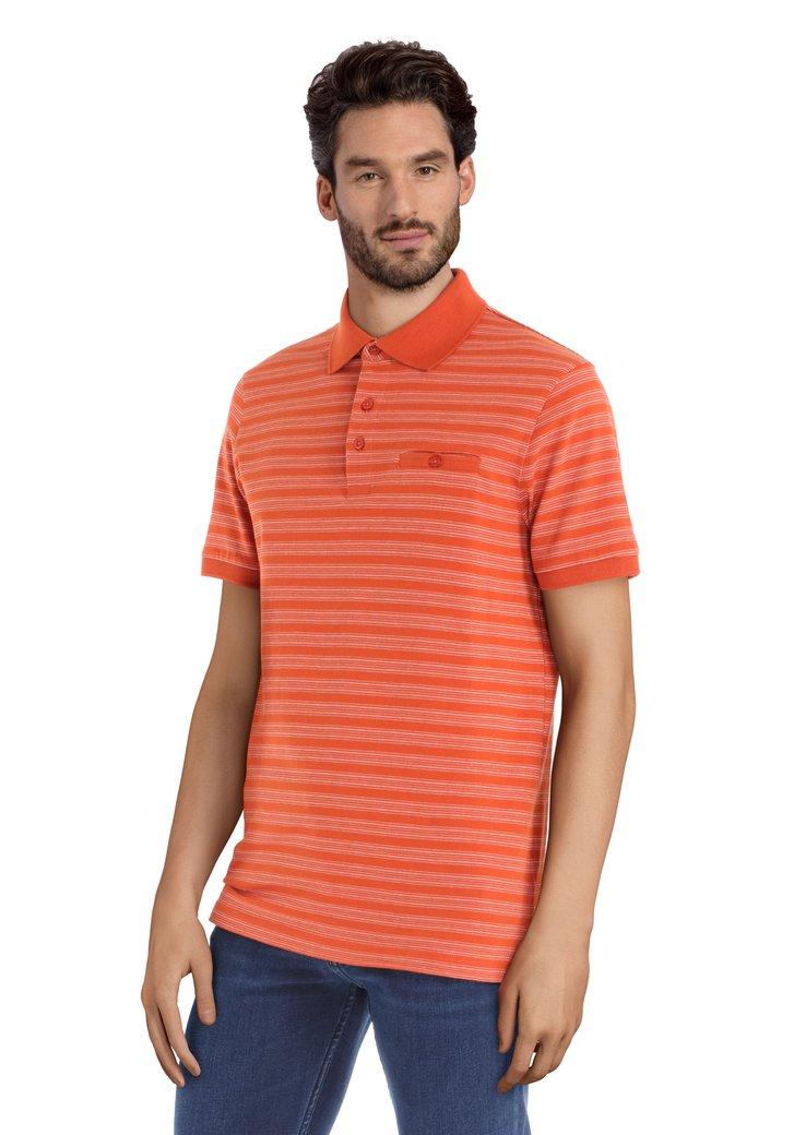 Polo orange et blanc à manches courtes