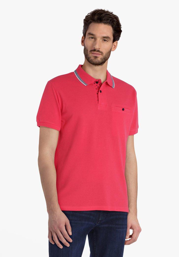 Polo rose avec poche de poitrine