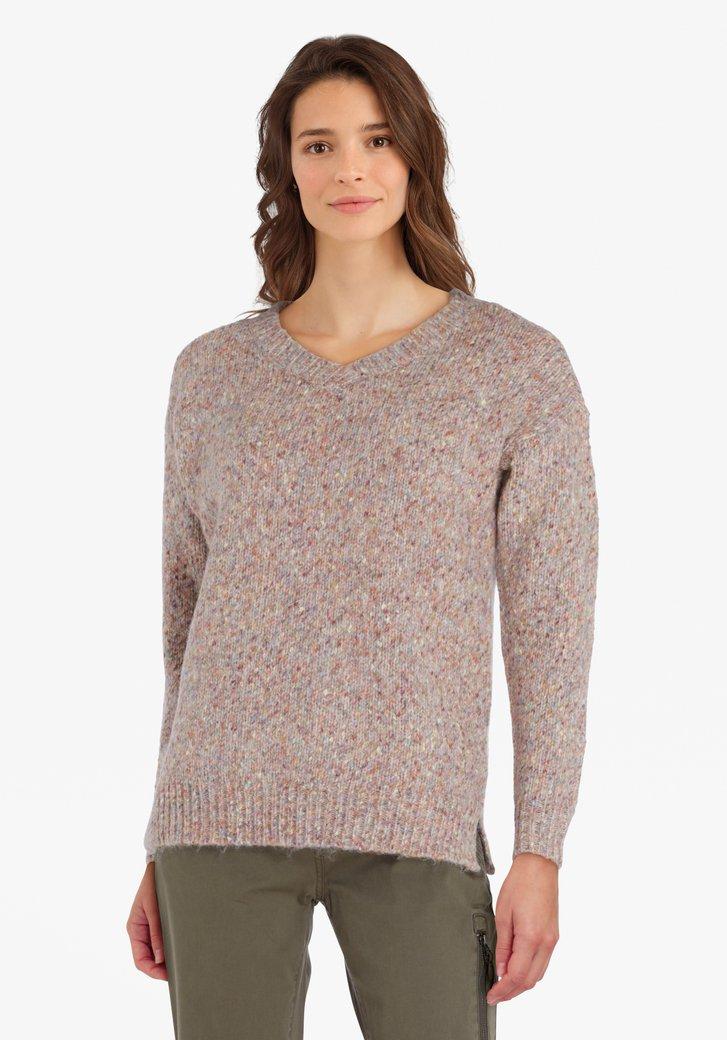 Pull en tricot coloré