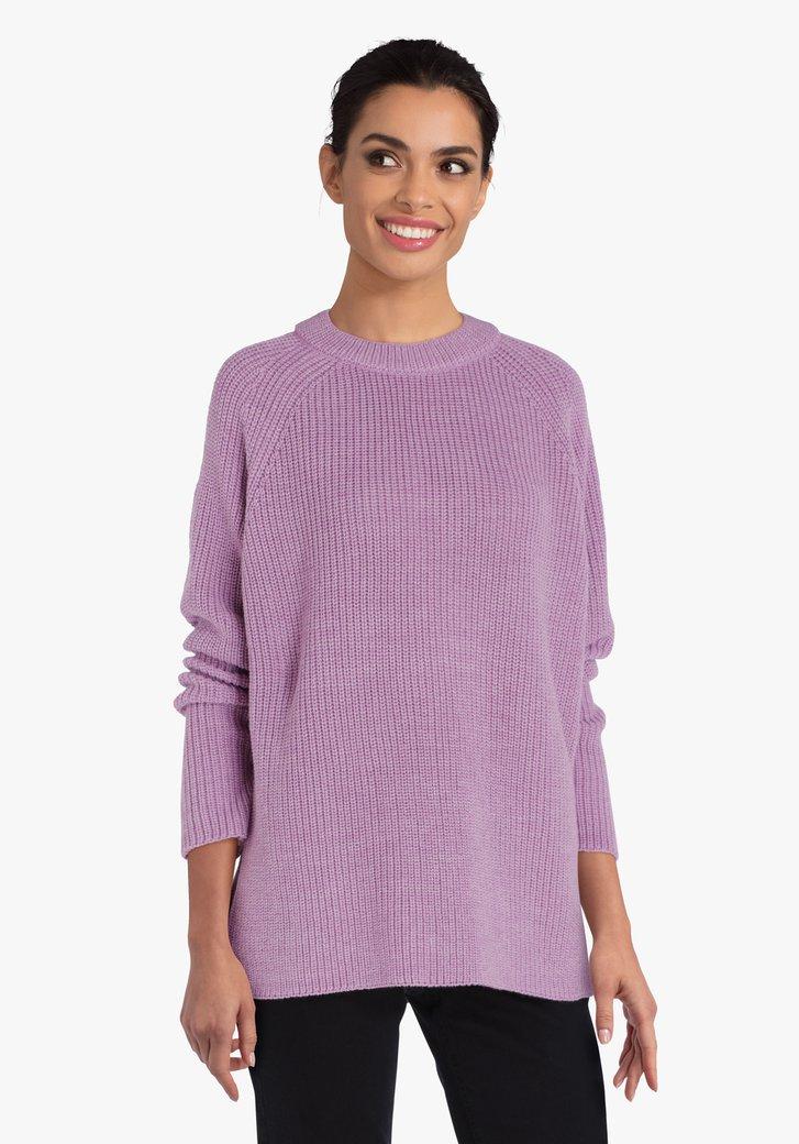 Pull en tricot lilas