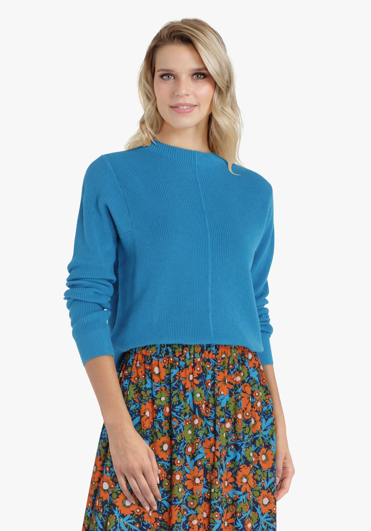 Pull en tricot turquoise