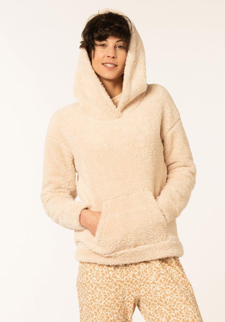 Pull pyjama beige en teddy