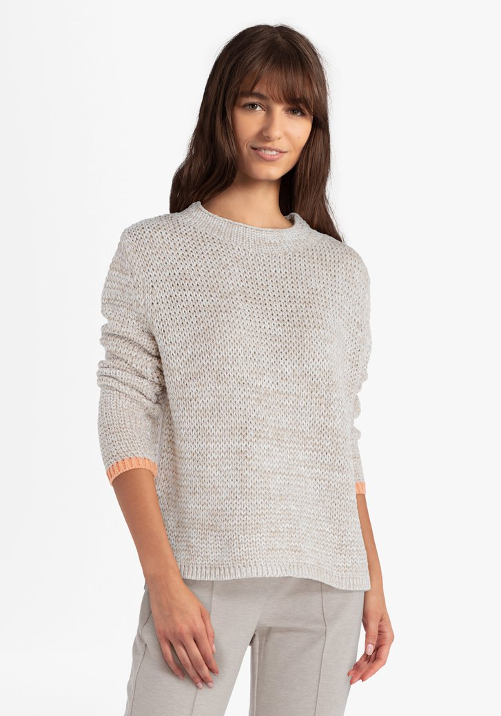 Pull tricoté beige
