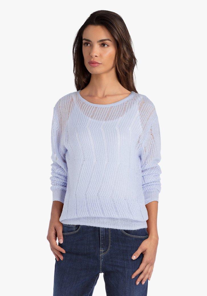 Pull tricoté violet pastel