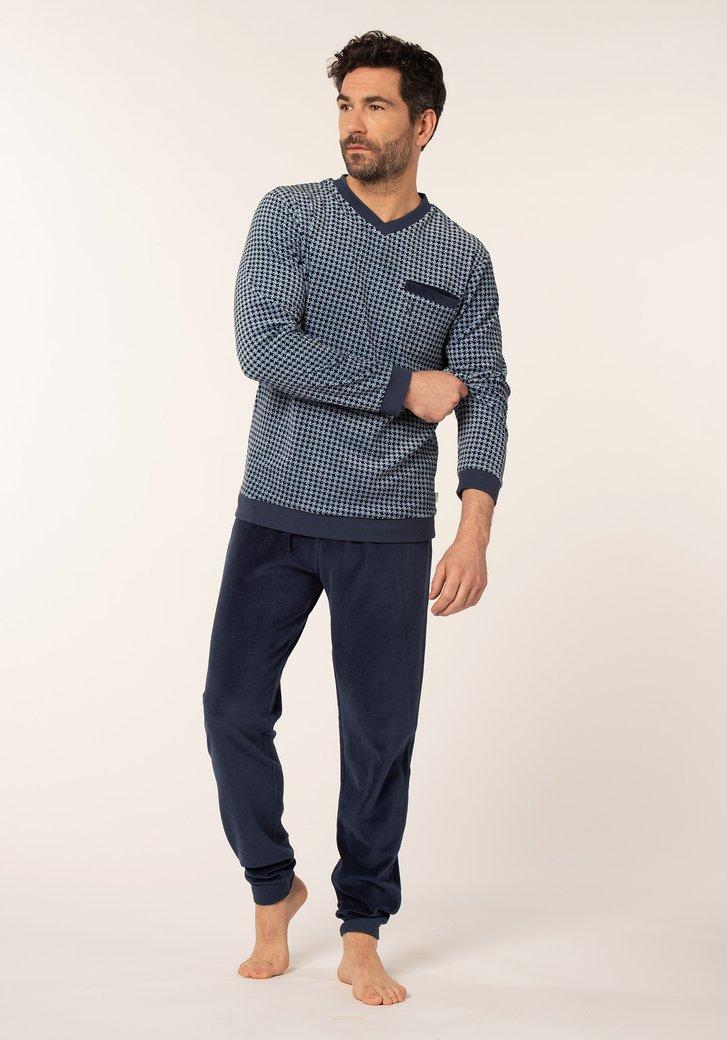 Pyjama bleu marine avec impression