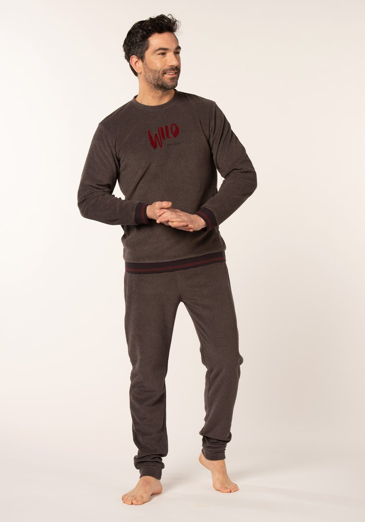 Pyjama de couleur anthracite avec inscription