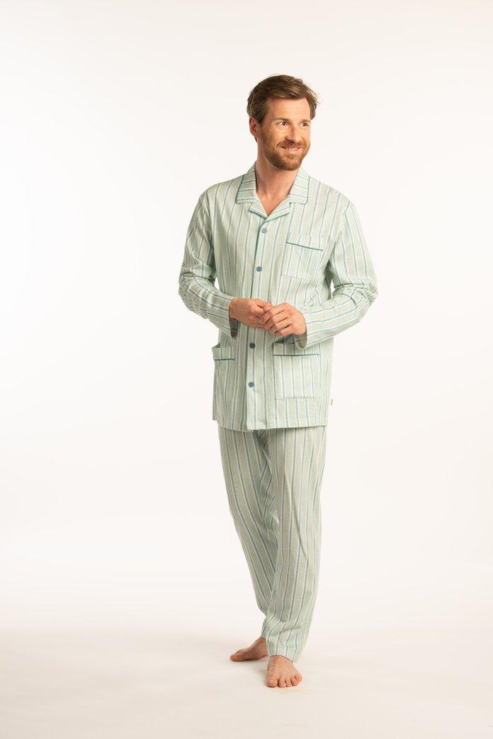 Pyjama rayé vert