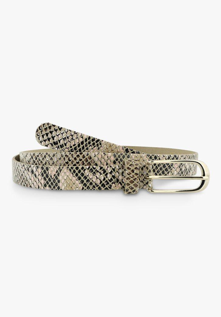 Riem met slangenprint