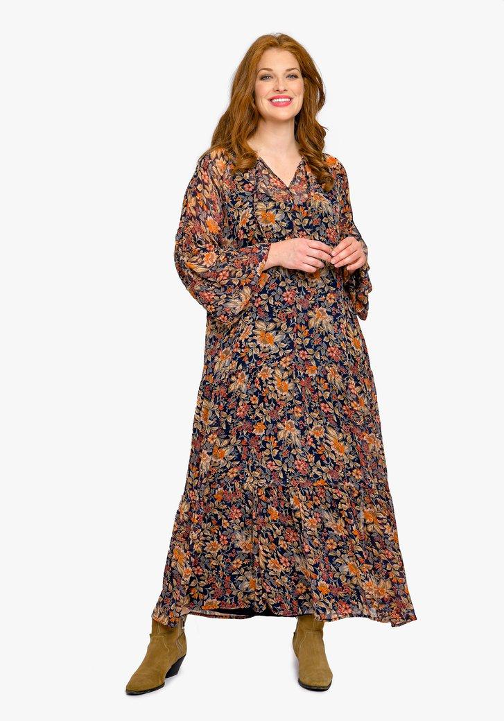 Robe à imprimé floral marron