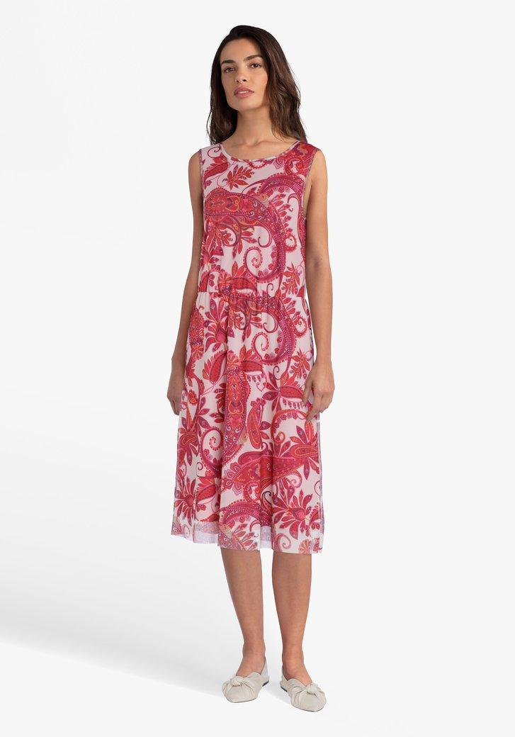 Robe à imprimé paisley dans les tons roses