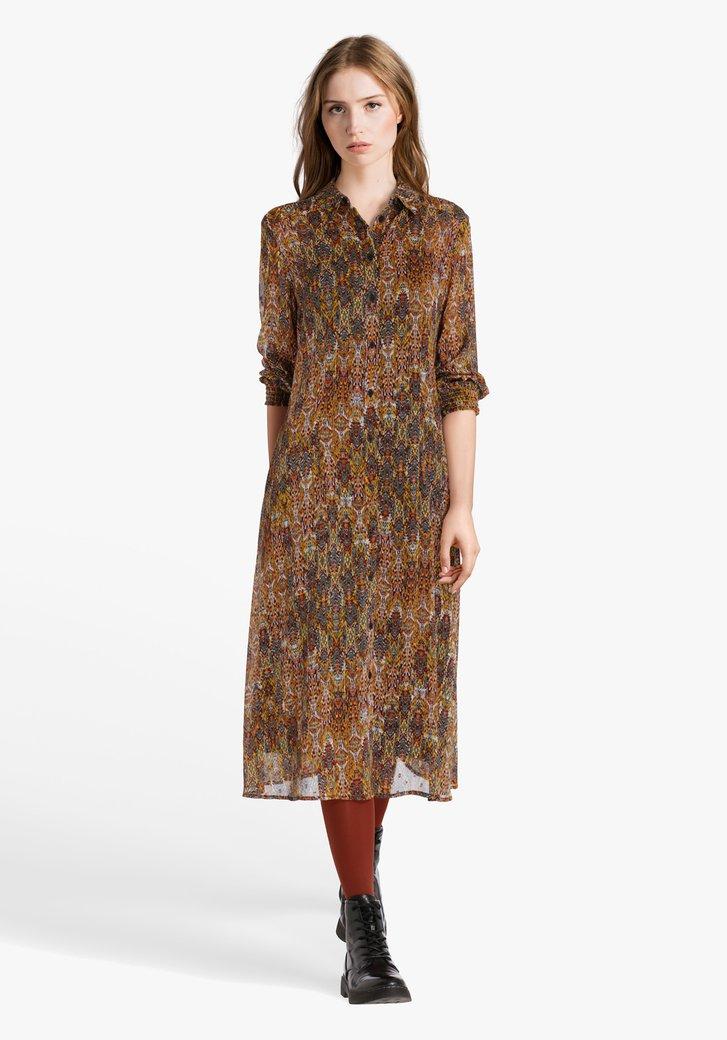 Robe avec impression en couleur