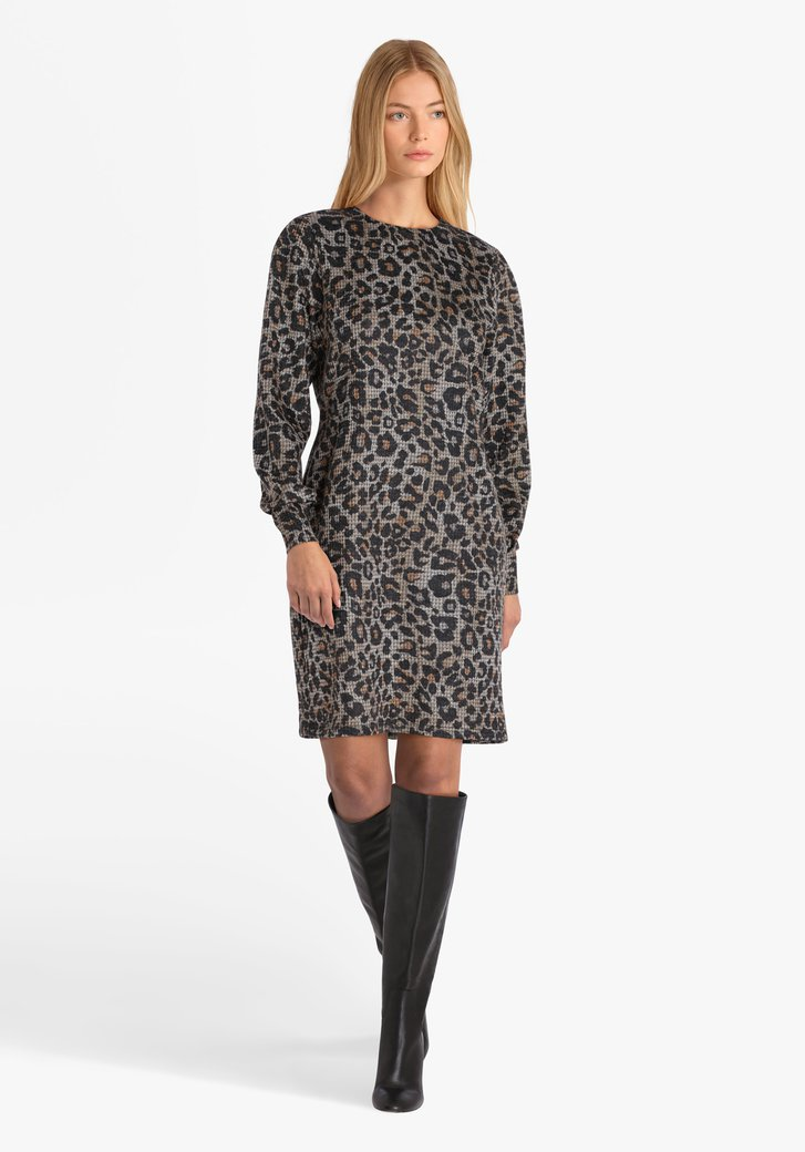 Robe avec imprimé léopard