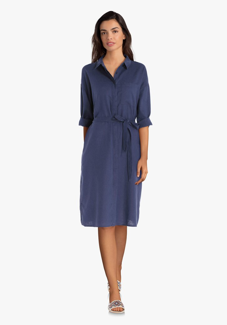 Robe bleu marine avec lin