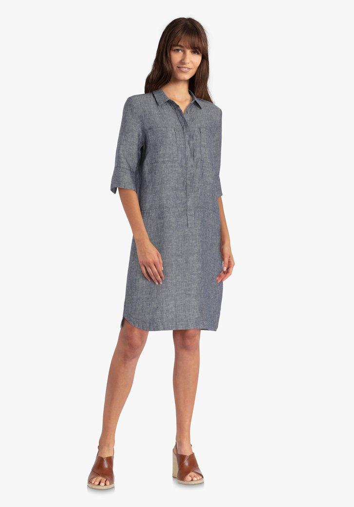 Robe bleue avec lin