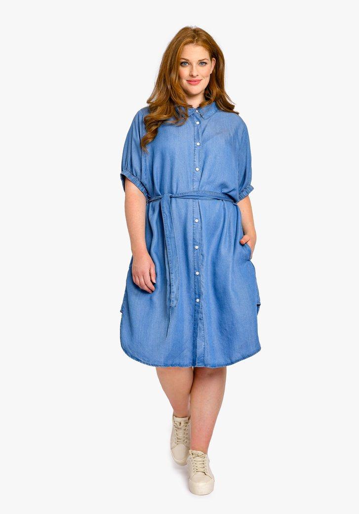 Robe bleue en look jean