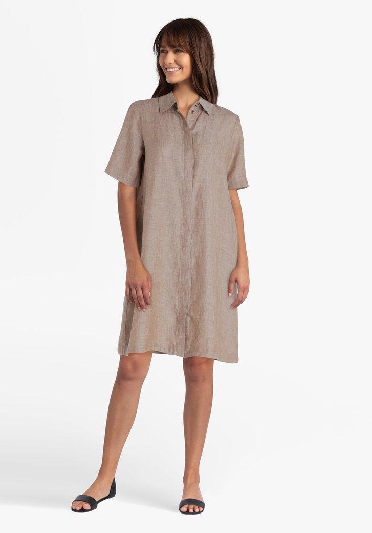Robe en lin brun clair