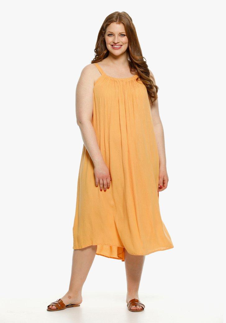 Robe orange en viscose