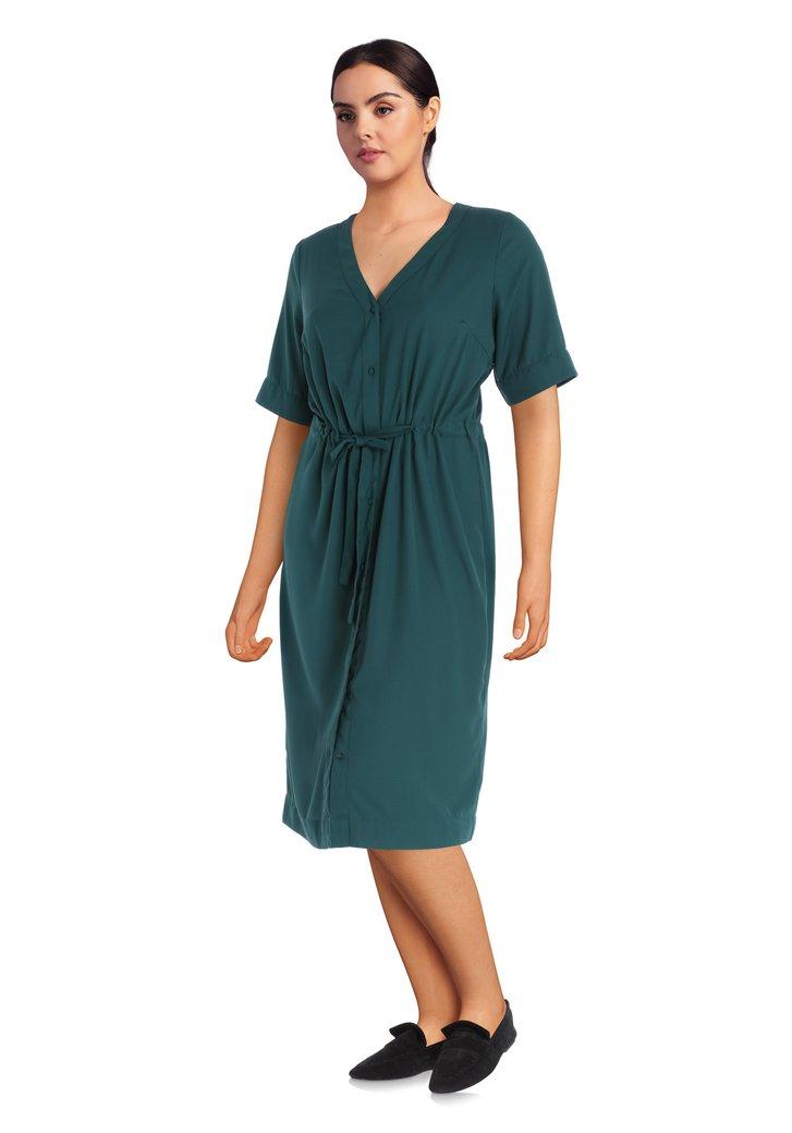 Robe vert foncé avec ruban intégré