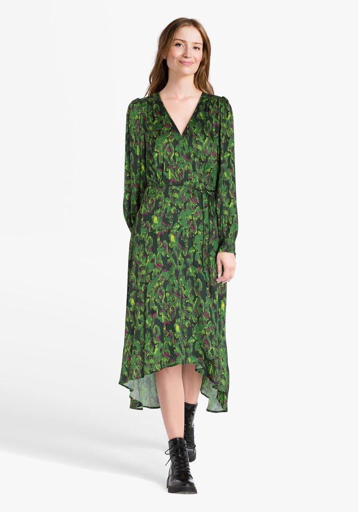 Robe verte avec imprimé