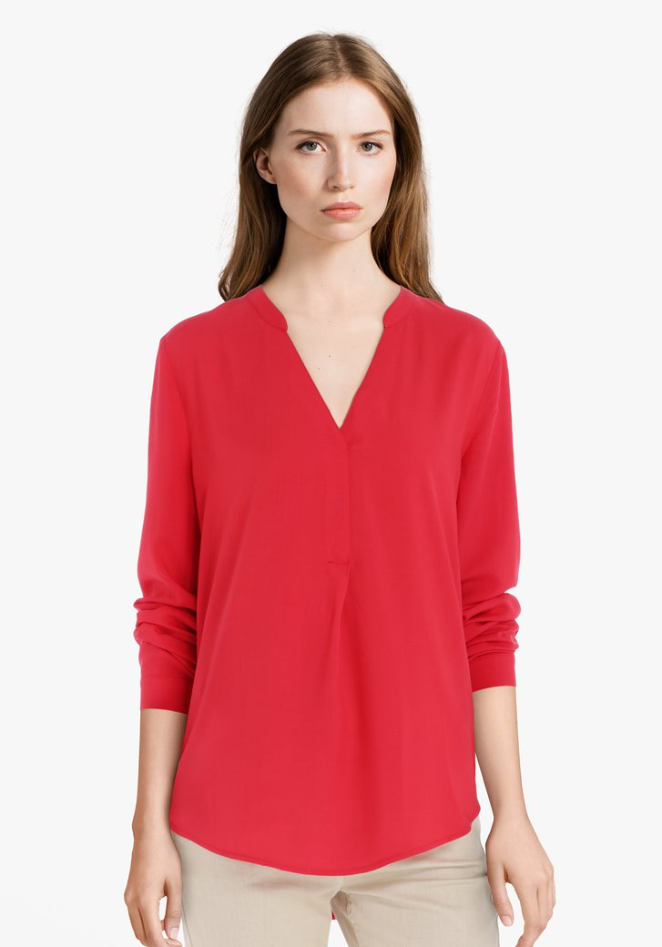 Rode blouse in viscose