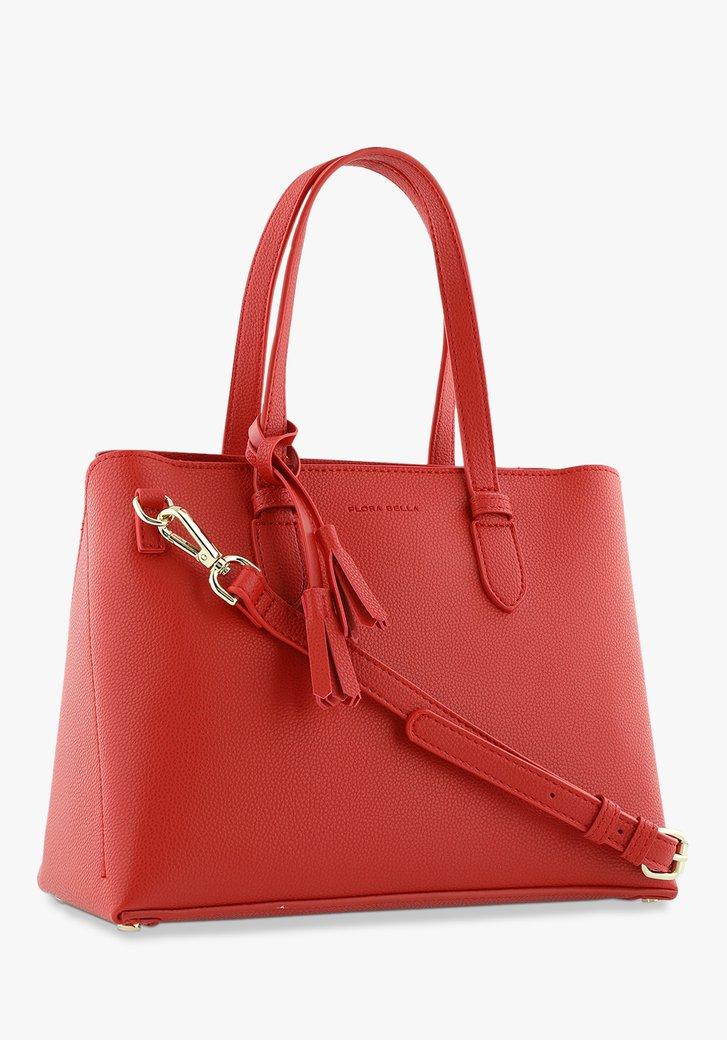 Afbeelding van Rode handtas in kunstleer
